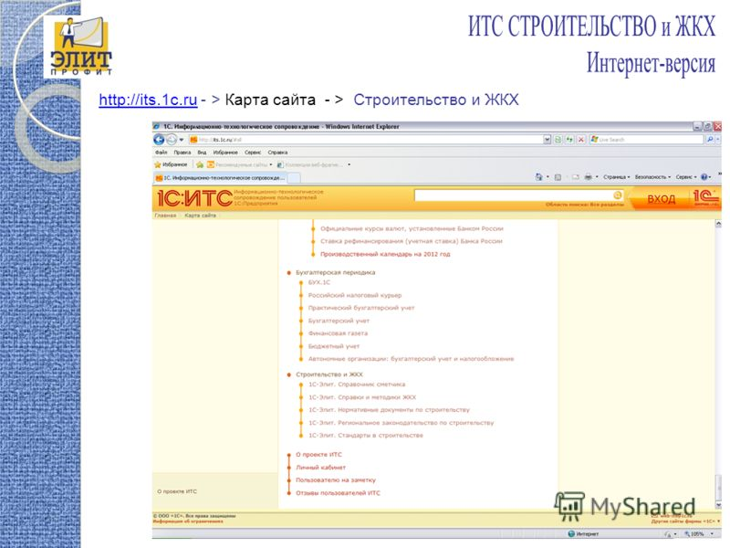 http://its.1c.ruhttp://its.1c.ru - > Карта сайта - > Строительство и ЖКХ