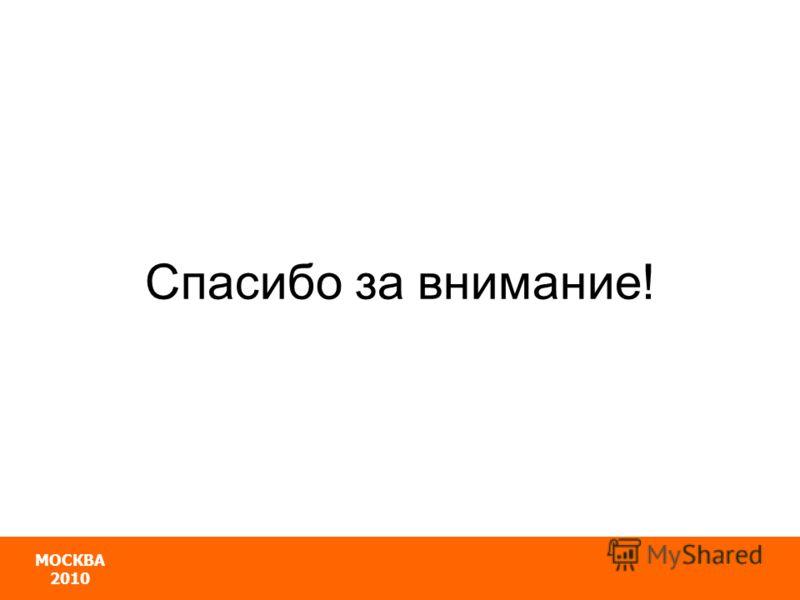 МОСКВА 2010 Спасибо за внимание!