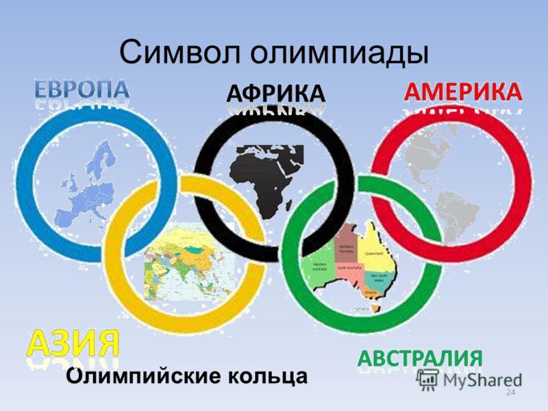24 Символ олимпиады Олимпийские кольца