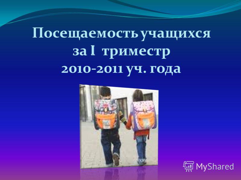 Посещаемость учащихся за I триместр 2010-2011 уч. года