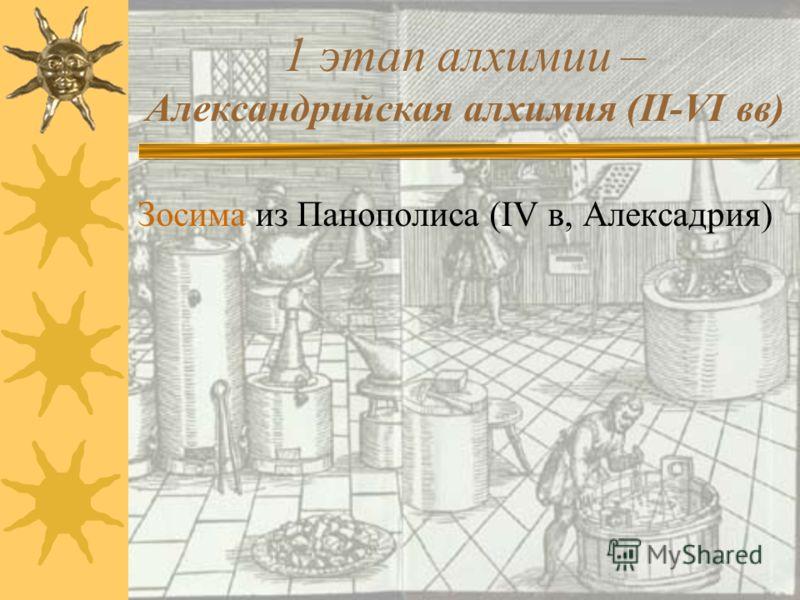 Теоретические предпосылки зарождения алхимии 1. Взгляды Аристотеля о единстве мира, состоящего из стихий, способных переходить одна в другую; 2. Воззрения Платона и неоплатоников