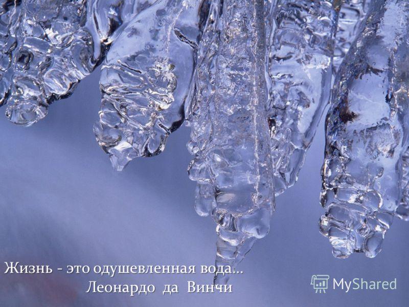 Жизнь - это одушевленная вода… Леонардо да Винчи