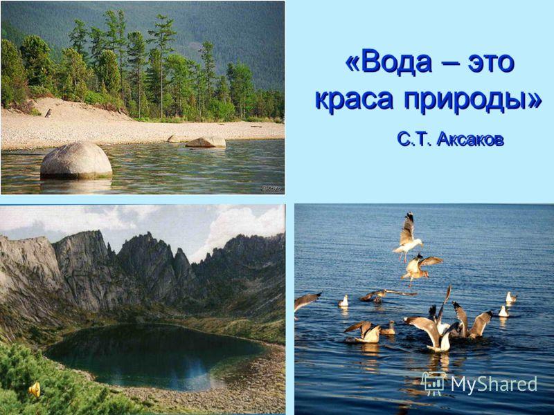 «Вода – это краса природы» С.Т. Аксаков