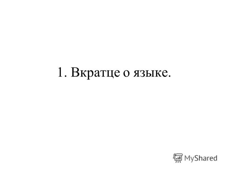 1. Вкратце о языке.