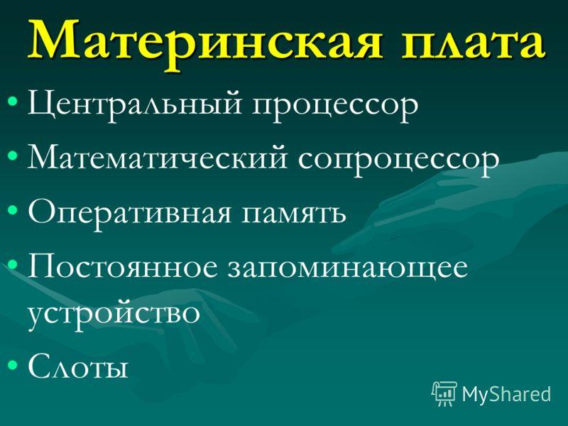 Корпус Материнская плата Адаптеры, карты НГМД НЖМД CD-привод Картридер