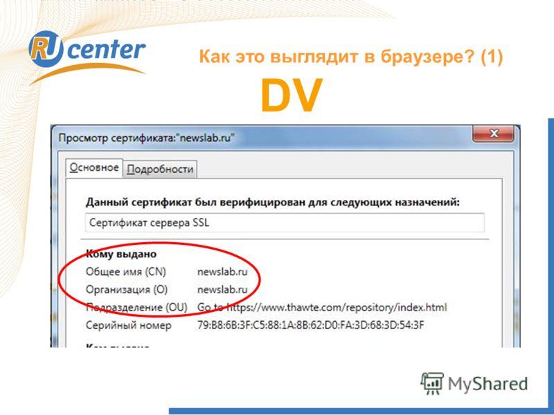 Как это выглядит в браузере? (1) DV