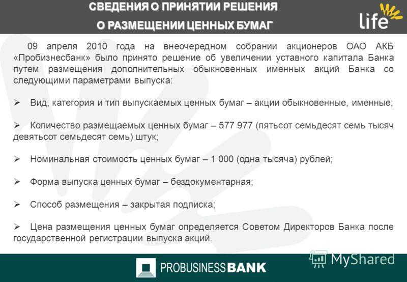 СТРУКТУРА КАПИТАЛА ОАО АКБ «ПРОБИЗНЕСБАНК»