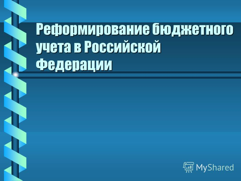Реформирование бюджетного учета в Российской Федерации