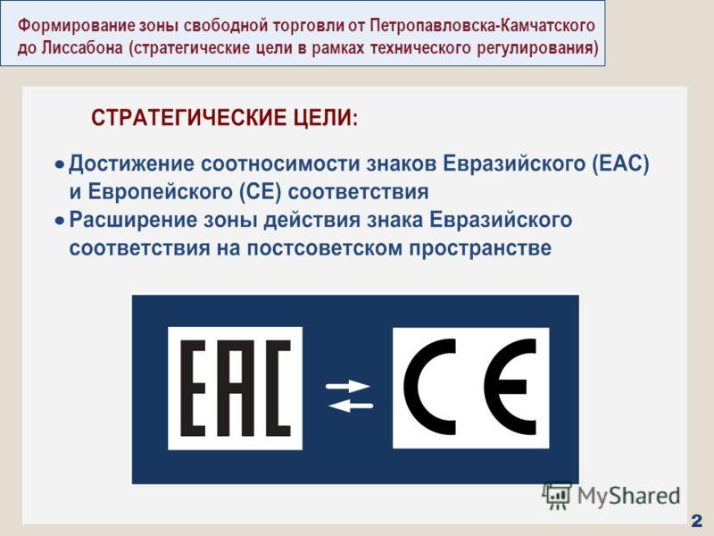 Формирование зоны свободной торговли от Петропавловска-Камчатского до Лиссабона (стратегические цели в рамках технического регулирования) 2