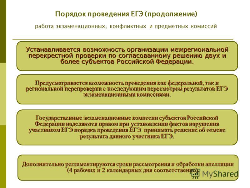15 Устанавливается возможность организации межрегиональной перекрестной проверки по согласованному решению двух и более субъектов Российской Федерации. Предусматривается возможность проведения как федеральной, так и региональной перепроверки с послед