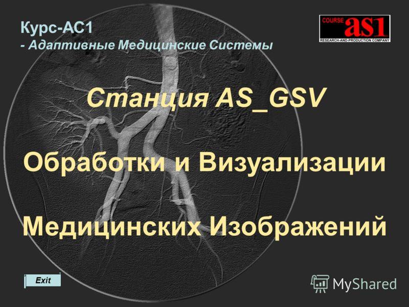 Станция AS_GSV Обработки и Визуализации Медицинских Изображений Exit Курс-АС1 - Адаптивные Медицинские Системы