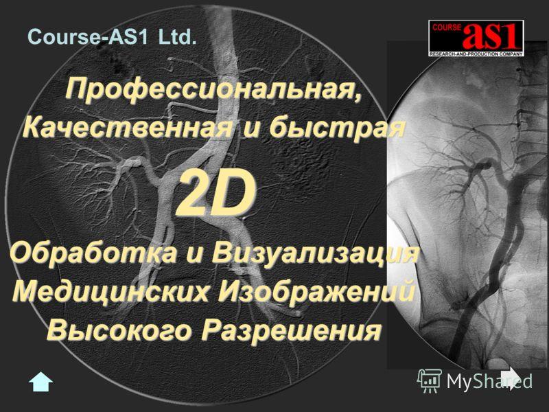 Профессиональная, Качественная и быстрая 2D Обработка и Визуализация Медицинских Изображений Высокого Разрешения Course-AS1 Ltd.