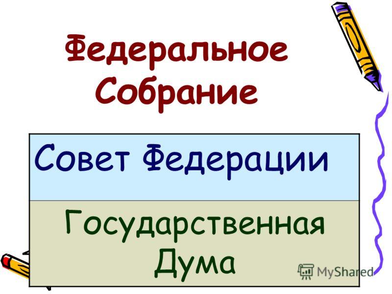 Федеральное Собрание Совет Федерации Государственная Дума