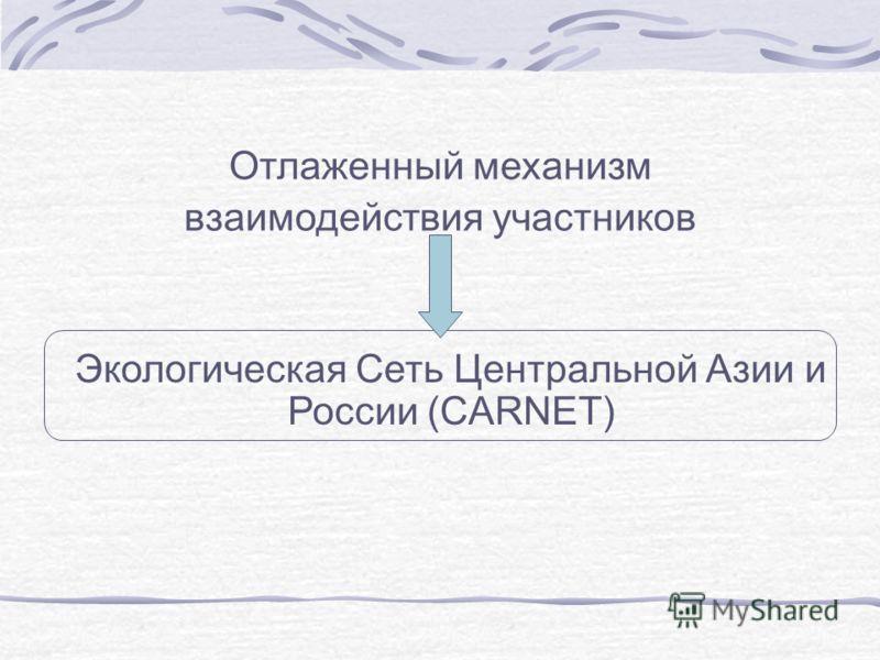 Отлаженный механизм взаимодействия участников Экологическая Сеть Центральной Азии и России (CARNET)