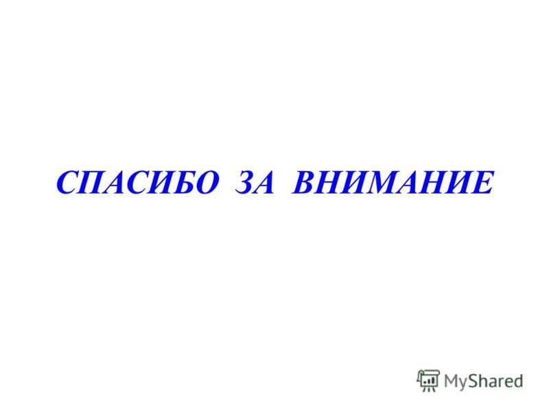 Последний слайд СПАСИБО ЗА ВНИМАНИЕ