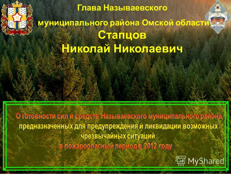 Глава Называевского муниципального района Омской области Стапцов Николай Николаевич