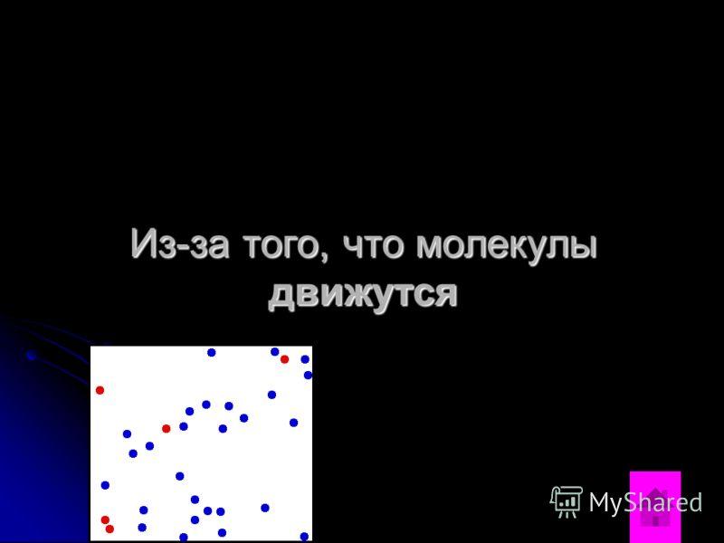Из-за того, что молекулы движутся