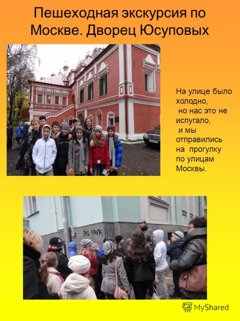 Пешеходная экскурсия по Москве. Дворец Юсуповых На улице было холодно, но нас это не испугало, и мы отправились на прогулку по улицам Москвы.
