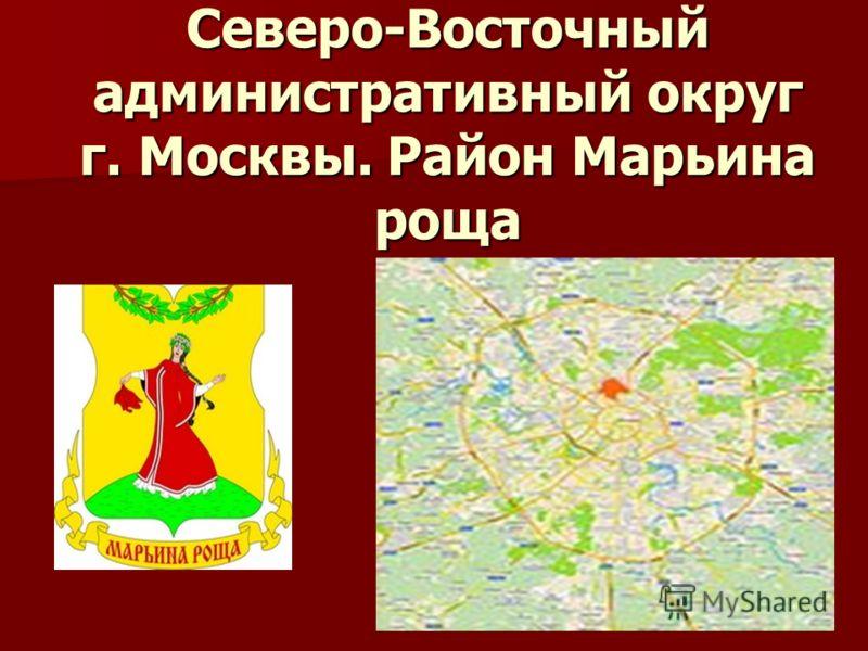 Северо-Восточный административный округ г. Москвы. Район Марьина роща