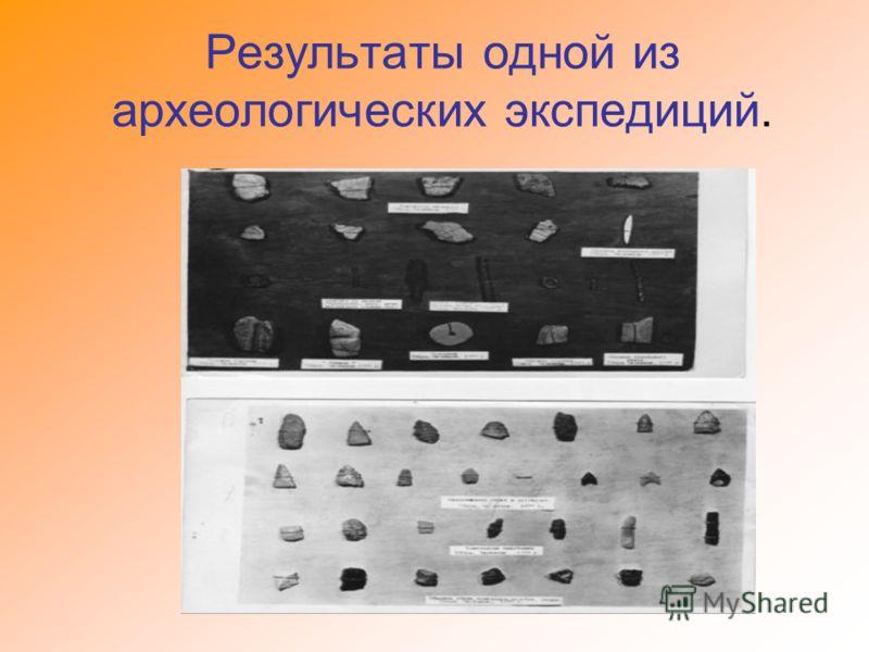 Результаты одной из археологических экспедиций.