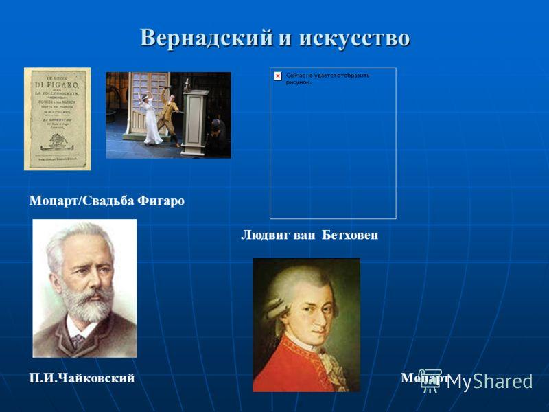 Вернадский и искусство Моцарт/Свадьба Фигаро Людвиг ван Бетховен П.И.ЧайковскийМоцарт