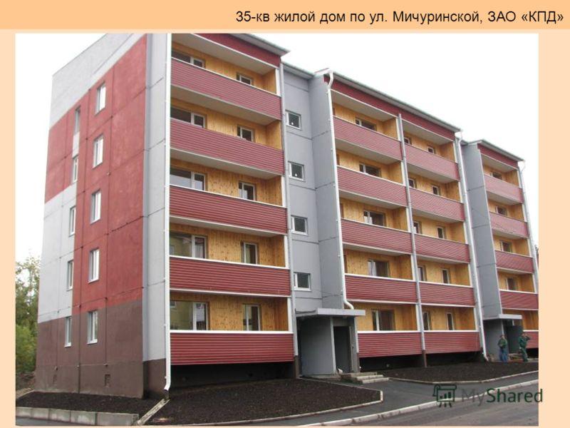 35-кв жилой дом по ул. Мичуринской, ЗАО «КПД»