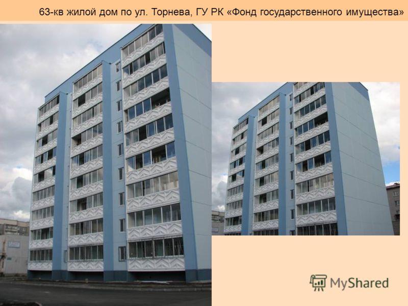 63-кв жилой дом по ул. Торнева, ГУ РК «Фонд государственного имущества»