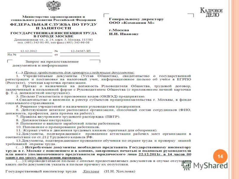 14 www.kdelo.ru Вебинар «Как подготовиться к проверке» от журнала