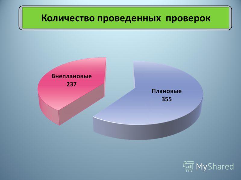 Количество проведенных проверок