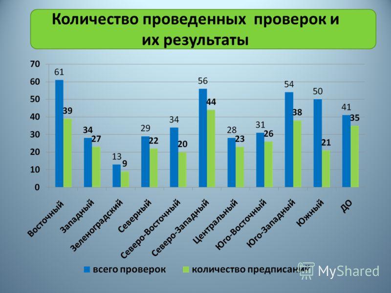 Количество проведенных проверок и их результаты