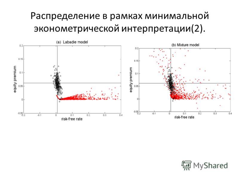 Распределение в рамках минимальной эконометрической интерпретации(2).