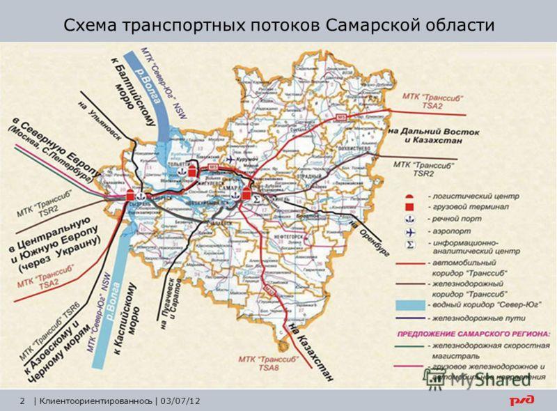 2| Клиентоориентированнось | 03/07/12 Схема транспортных потоков Самарской области
