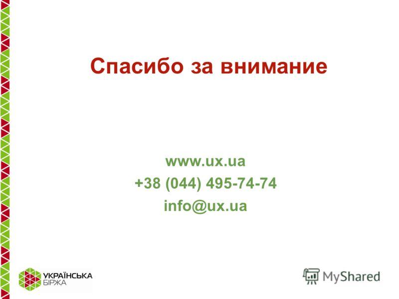 www.ux.ua +38 (044) 495-74-74 info@ux.ua Спасибо за внимание