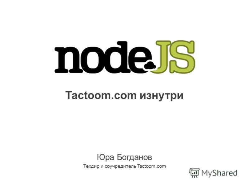 Tactoom.com изнутри Юра Богданов Техдир и соучредитель Tactoom.com