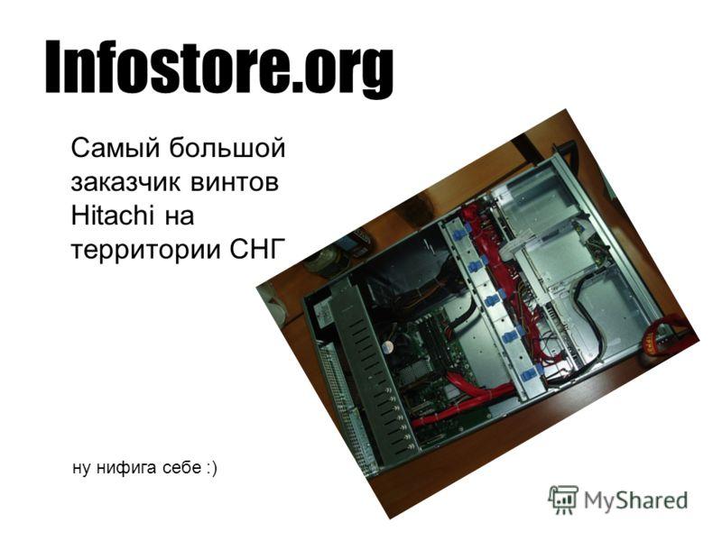 Infostore.org Самый большой заказчик винтов Hitachi на территории СНГ ну нифига себе :)