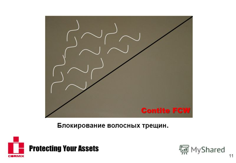 Protecting Your Assets 11 Блокирование волосных трещин. Contite FCW