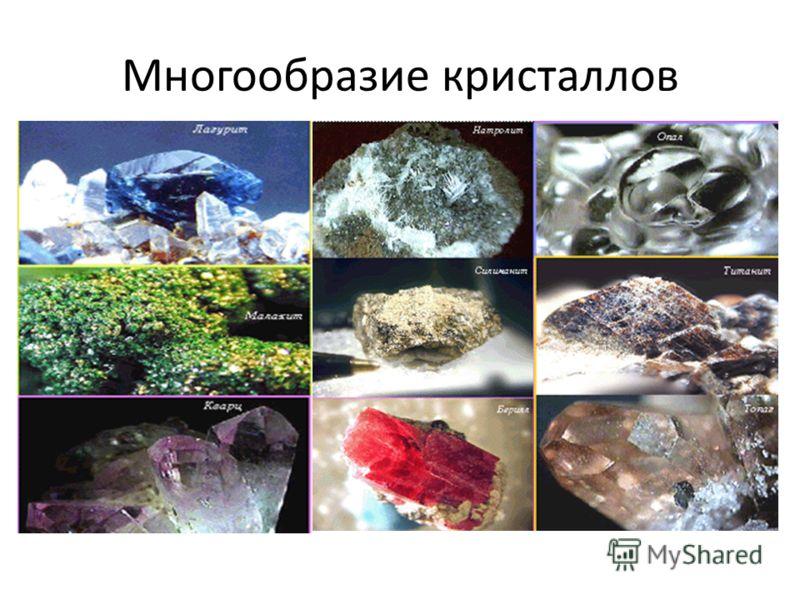 Многообразие кристаллов