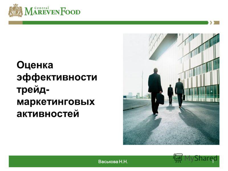 Васькова Н.Н. 1 Оценка эффективности трейд- маркетинговых активностей