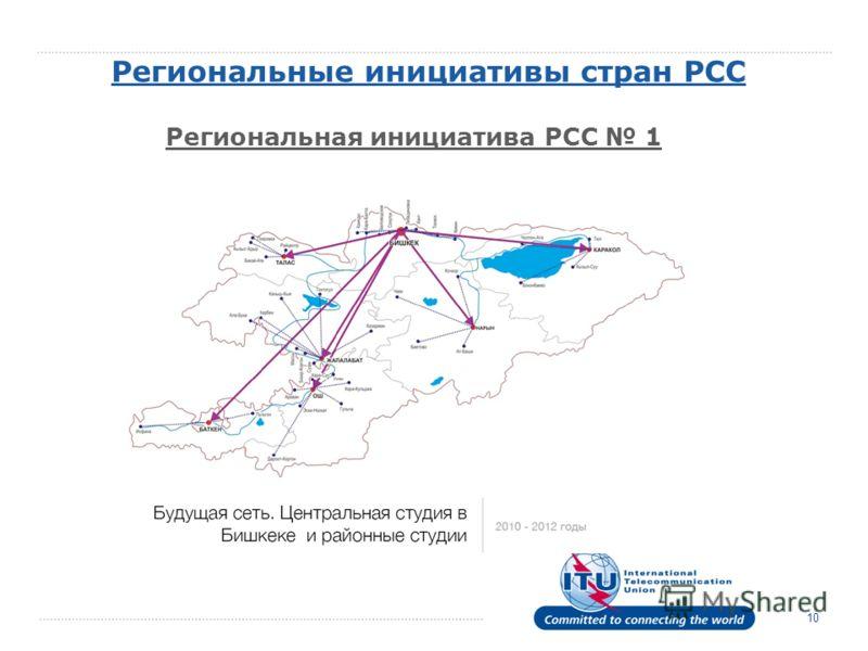 10 Региональные инициативы стран РСС Региональная инициатива РСС 1