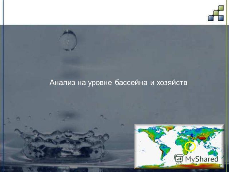 Анализ на уровне бассейна и хозяйств