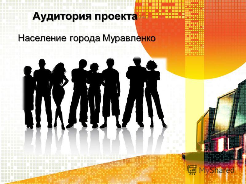 Аудитория проекта Население города Муравленко