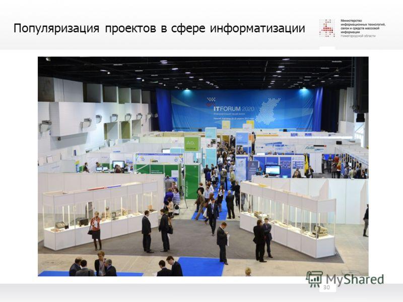 Популяризация проектов в сфере информатизации 30