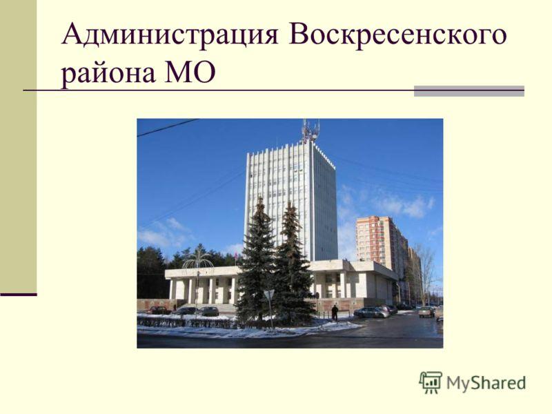 Администрация Воскресенского района МО