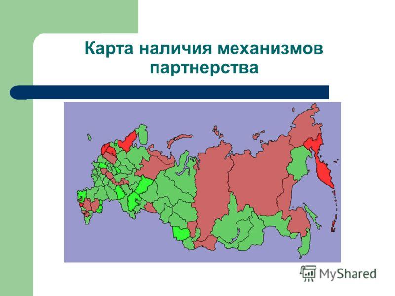 Карта наличия механизмов партнерства