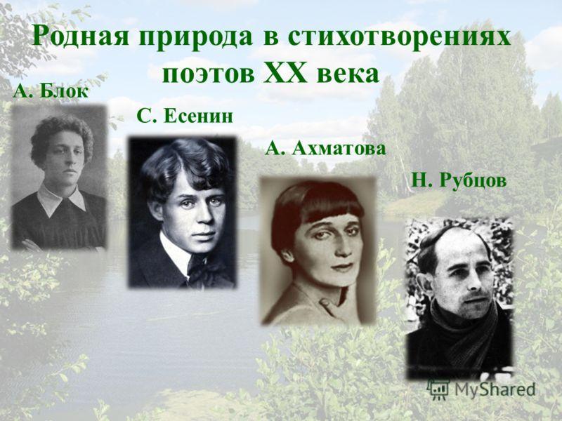 Родная природа в стихотворениях поэтов XX века А. Блок С. Есенин А. Ахматова Н. Рубцов