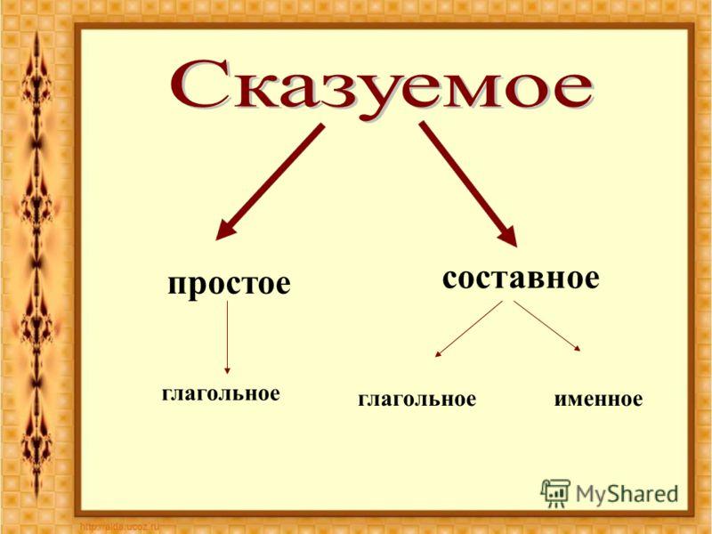 простое составное глагольное именное