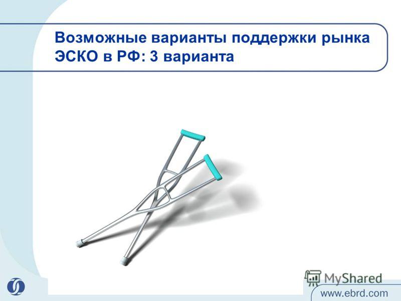 Возможные варианты поддержки рынка ЭСКО в РФ: 3 варианта 11