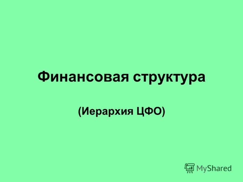 Финансовая структура (Иерархия ЦФО)
