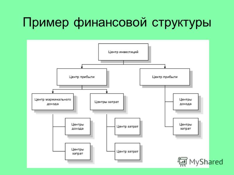 Пример финансовой структуры
