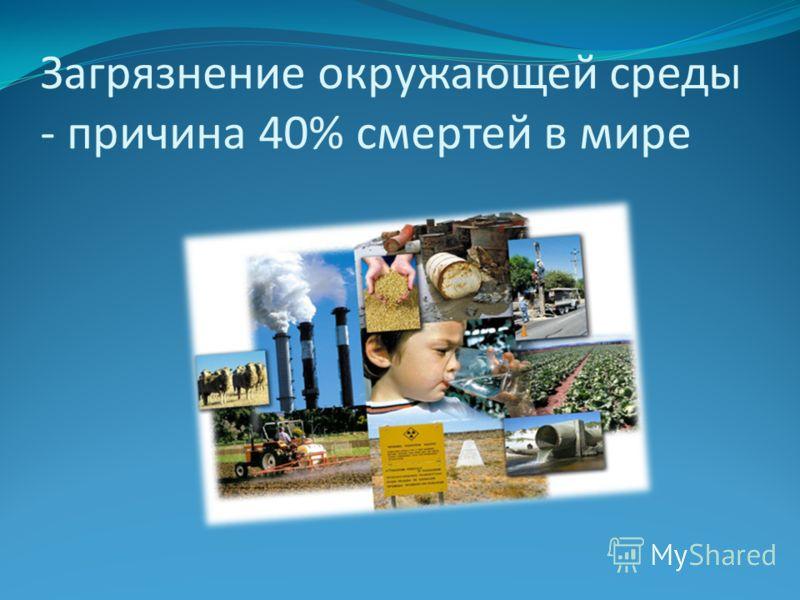 Загрязнение окружающей среды - причина 40% смертей в мире